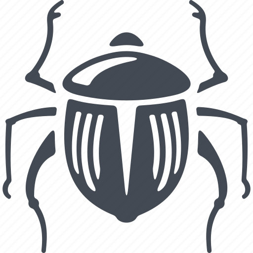 beetle, egipt, insect, pest icon