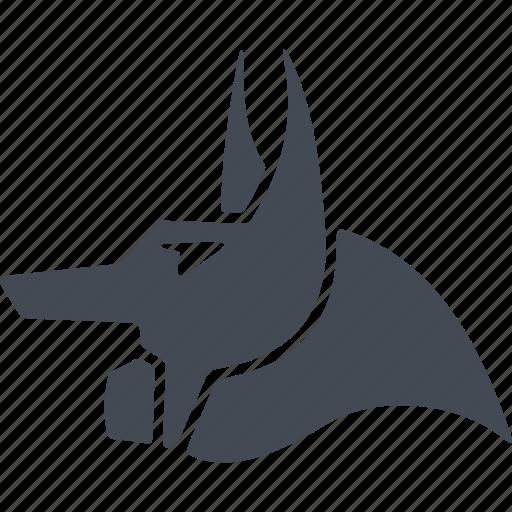 avatar, egipt, head, jackal head icon