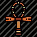 ankh, cultures, egyptian, religion icon