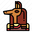 anubis, egyptian, god, mythology icon