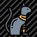 cat, egypt, egyptian, religion icon
