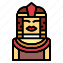 cleopatra, egyptian, queen, woman icon