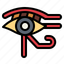 cultures, egyptian, eye, god, of, ra icon