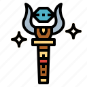 ancient, cultures, king, scepter icon