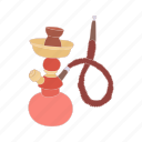 cartoon, east, egypt, hookah, pipe, smoke, tobacco icon