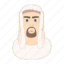 arab, cartoon, egypt, egyptian, face, man, tradition icon