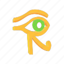 ancient, cartoon, egypt, eye, horus, ra, religion icon