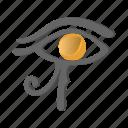 ancient, cartoon, egypt, eye, horus, ra, religion icon