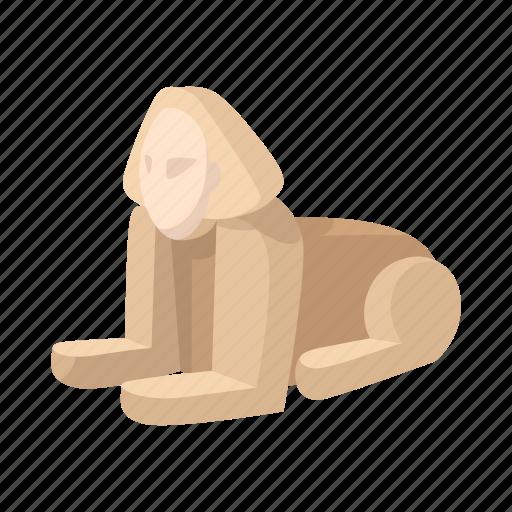 ancient, cairo, cartoon, egypt, giza, ruin, sphinx icon