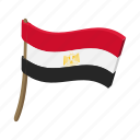 cartoon, country, egypt, flag, national, patriotism, wind icon