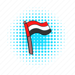 comics, country, egypt, flag, national, patriotism, wind icon
