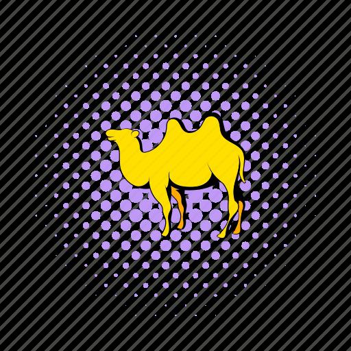 africa, animal, camel, comics, desert, egypt, travel icon