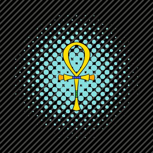 ancient, ankh, comics, cross, egypt, egyptian, life icon