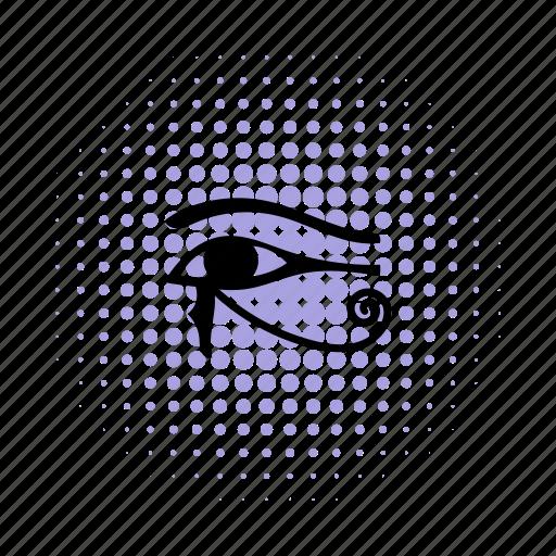 ancient, comics, egypt, eye, horus, ra, religion icon
