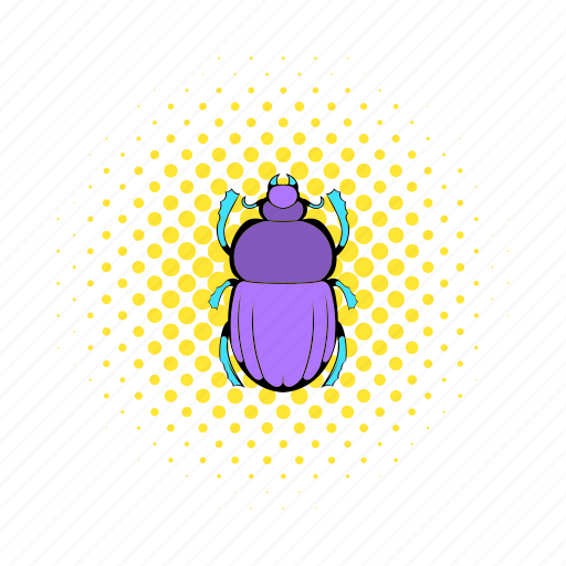 beetle, bug, comics, decoration, egypt, insect, scarab icon