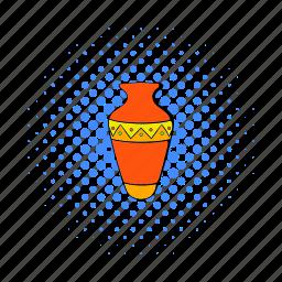 amphora, clay, comics, egypt, egyptian, pottery, vase icon