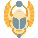 beetle, scarab, insect, ancient, egypt icon