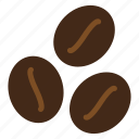 beans, brown, cafe, coffee icon