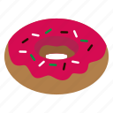 cafe, donut, pink, topping icon