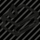 dishwashing, sponge icon