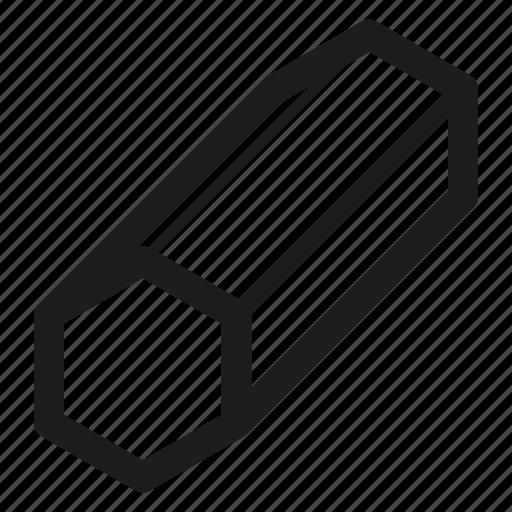 bars, hexagon, metal, steel icon
