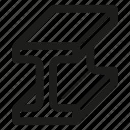 bar, i-beam, metal, steel icon