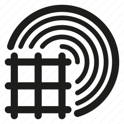 mesh, rolls icon