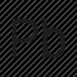 metal, plumbum icon