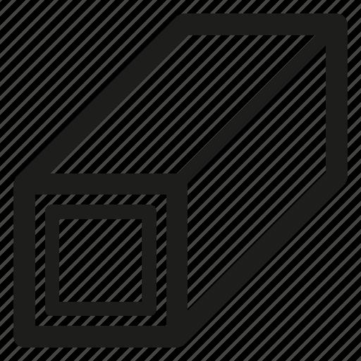 Metal, pipe, profile, steel icon