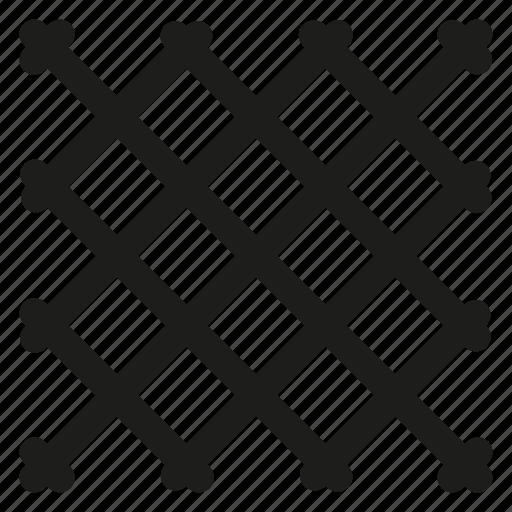 fence, mesh, rabitz icon