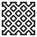 fence, mesh, pvc, rabitz icon