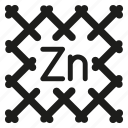 fence, mesh, rabitz, zinc icon