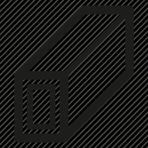 metal, pipe, rectangular, steel icon