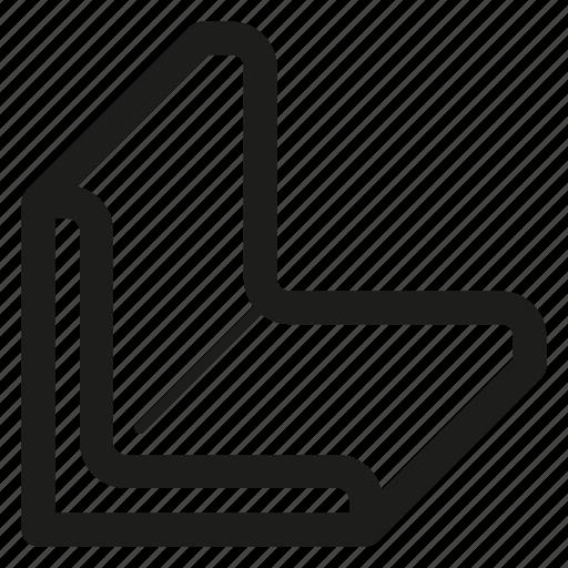 bar, corner, metal, rolled, steel icon
