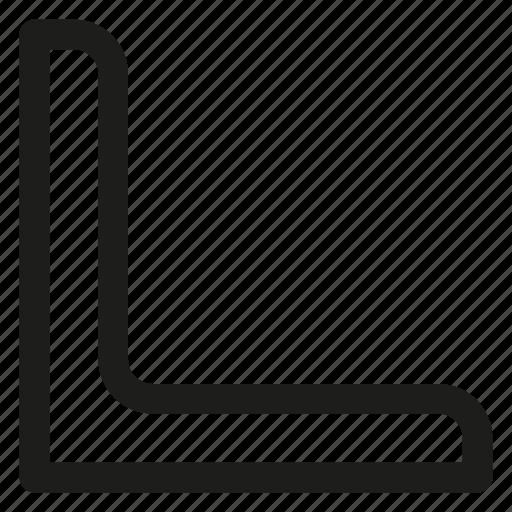 Bar, corner, metal, rolled, steel icon - Download on Iconfinder