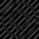 detector, fire alarm, heat, system icon