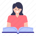 education, reading book, student reading, pupil, learning