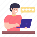 student ratings, star ratings, student rankings, feedback, review icon