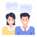 discussion, conversation, talking, speech, negotiation