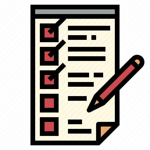 checking, list, paper, select icon