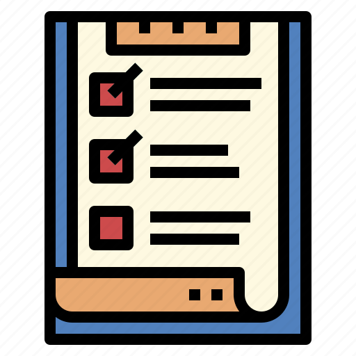 check, clipboard, document, list icon