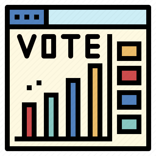 chart, election, poll, statistics icon