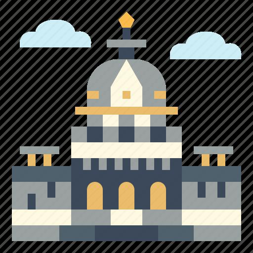 architecture, capitol, landmark, politician icon
