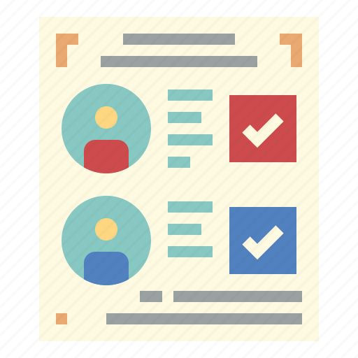 election, list, paper, voting icon