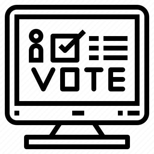 computer, democracy, elections, online, voting icon