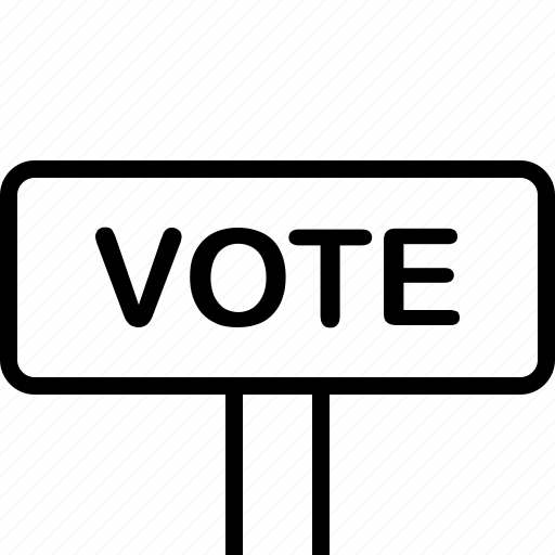 banner, election, plate, poster, vote icon