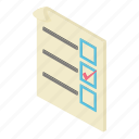 box, check, form, isometric, object, tick, voting