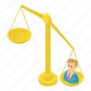balance, isometric, justice, law, libra, object, scale