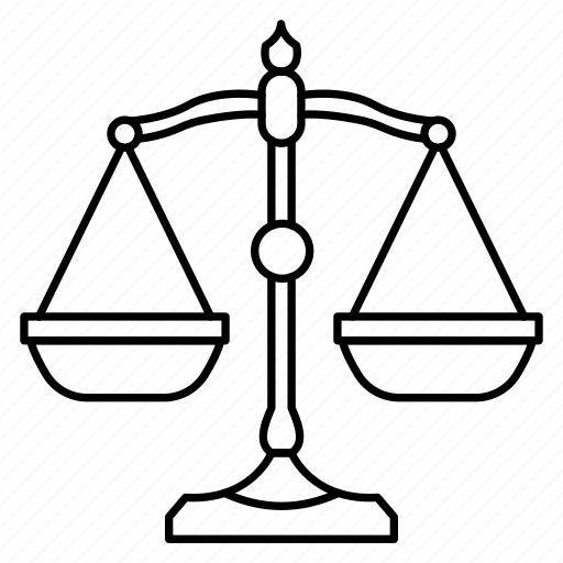 court, judge, justice, law, scale icon