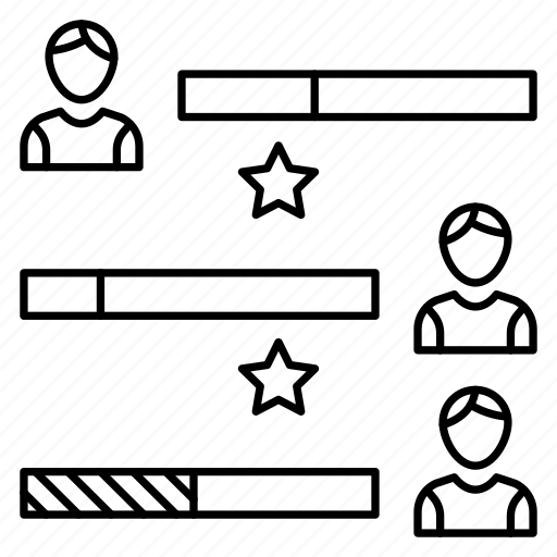 chart, graph, rating, statistics, user icon